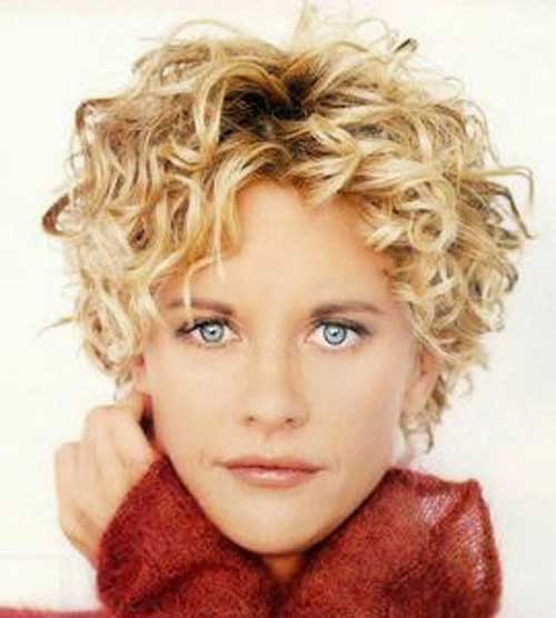 Stylish Women Curly Hair Short Cut Pictures