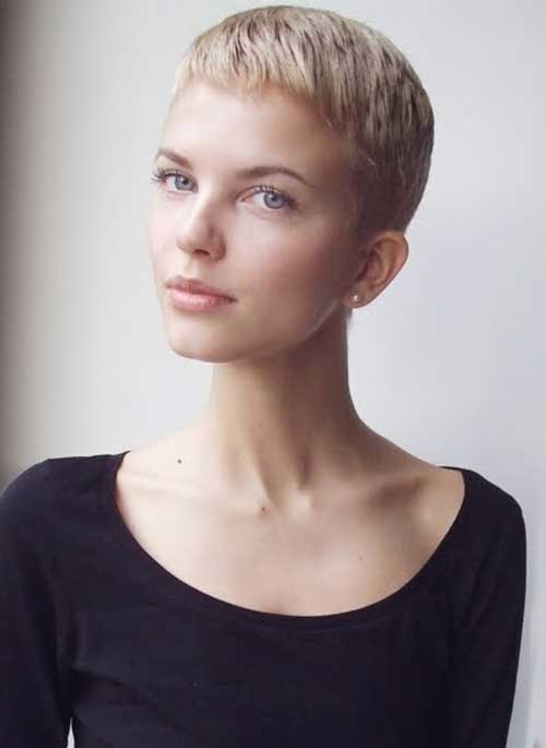 Super Short Blonde Pixie Hairstyles