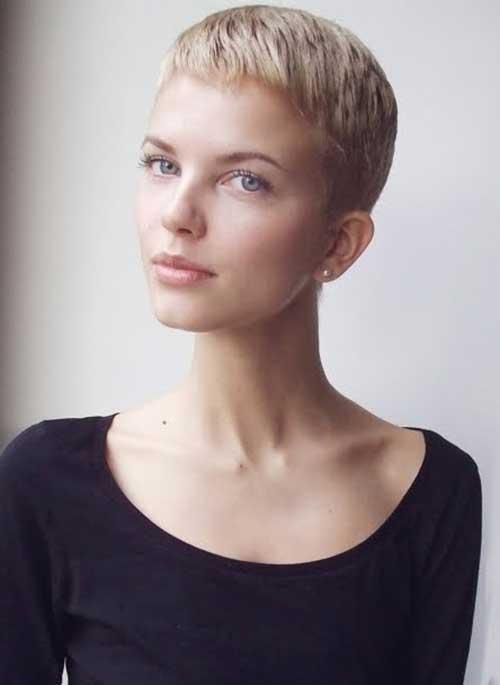 Super Short Blonde Pixie Hairstyles