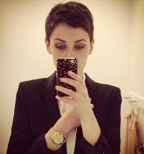 Super Short Cropped Hair Pixie Styles