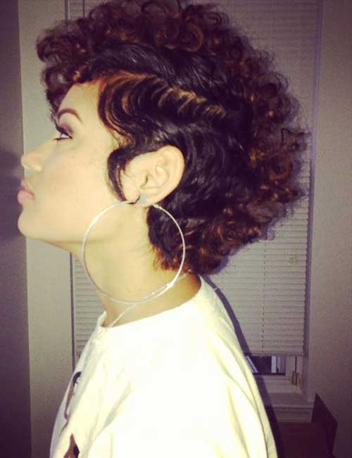 Cool Super Short Curly Hairstyles 2015