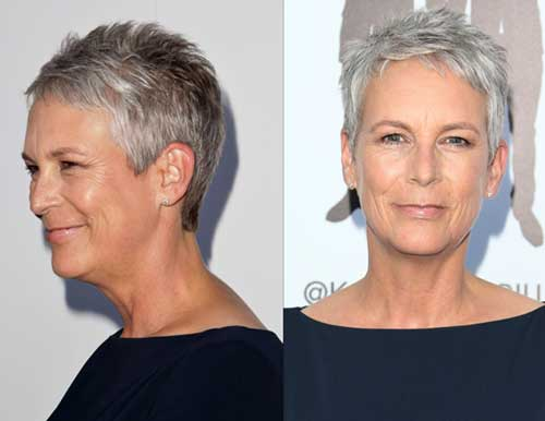 Super Short Grey Pixie Hair