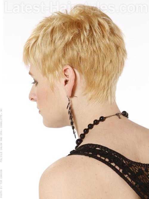 Super Short Pixie Back View