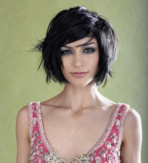 Thick Dark Hair Short Cut Ideas