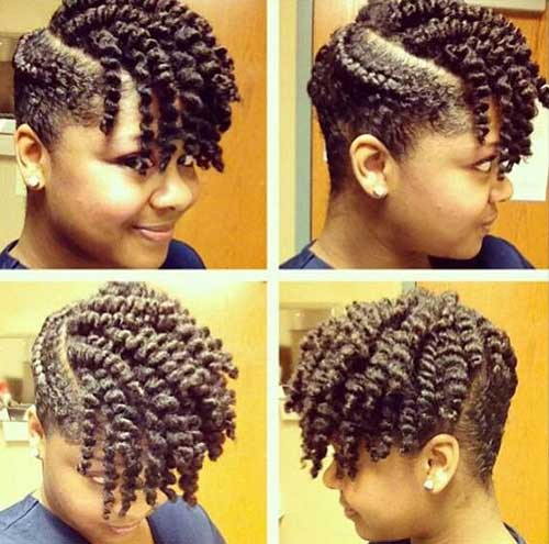 Twist Out Short Hair Styles for Cute Black Girl