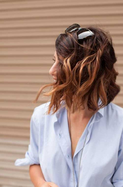 Wavy Long Inverted Bob Haircuts