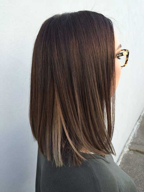 Ash brown hair color short