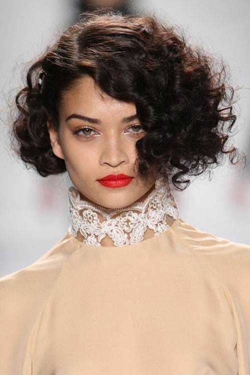 Short Hairstyles for Thick Curly Frizzy Hair