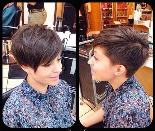 2015 Pixie Hair Cuts with Long Bangs