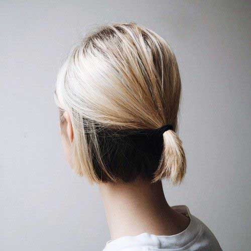 Ponytail Styles for Short Hair-6