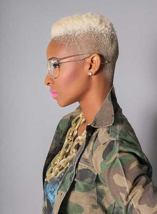 15 Short Blonde Hairstyles For Black Women Short