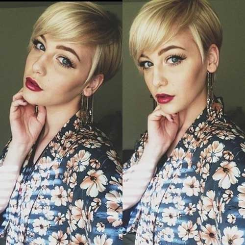 Best Blonde Long Pixie Hairstyles