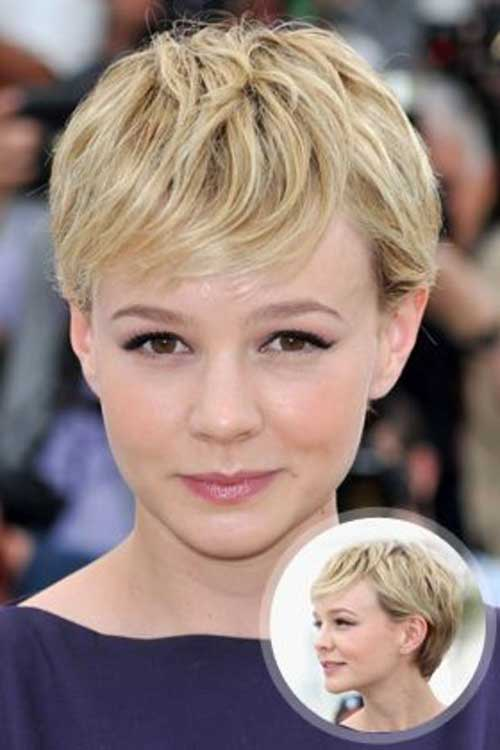 Blonde Messy Pixie Cuts for Oval Faces