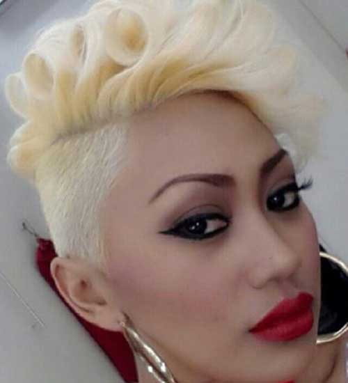 Blonde Mohawk Short Hairstyles
