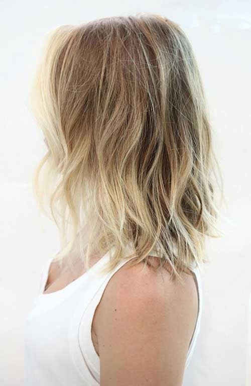 Blonde Ombre Short Beach Hair Style