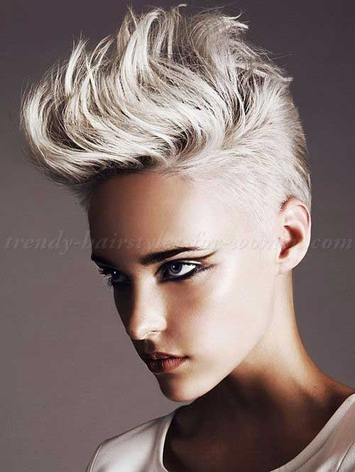 Blonde Punk Short Haircuts