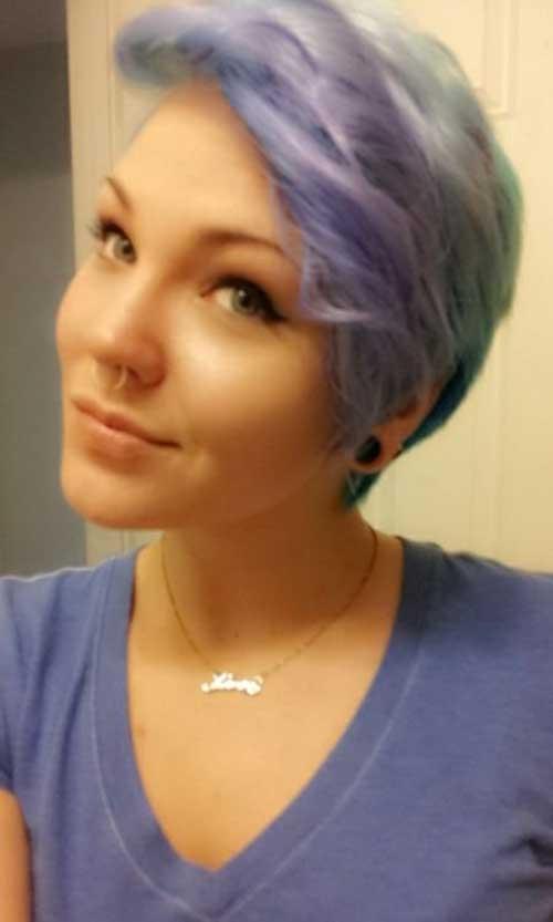 Blue Pixie Short Hair Colors