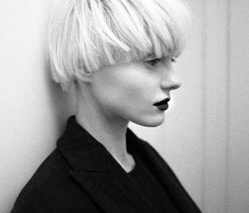 Blunt Blonde Pixie Haircuts 2015