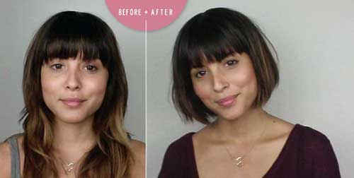 Best Blunt Bob with Bangs