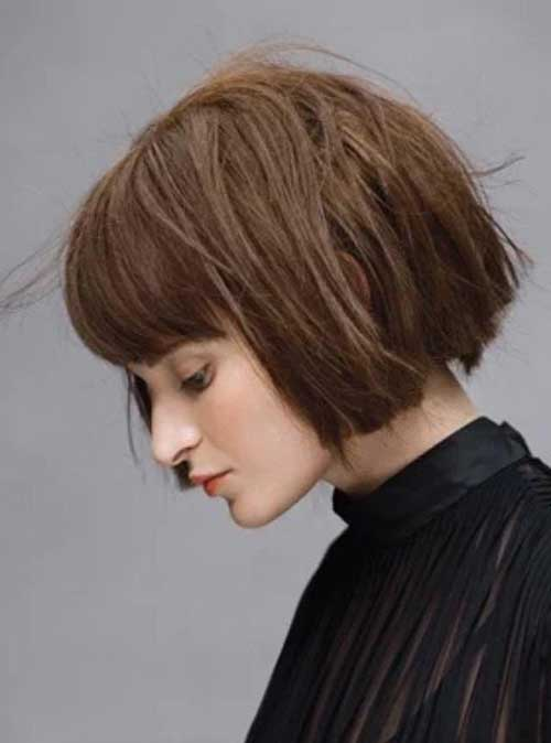 Blunt Bob Hair with Bangs