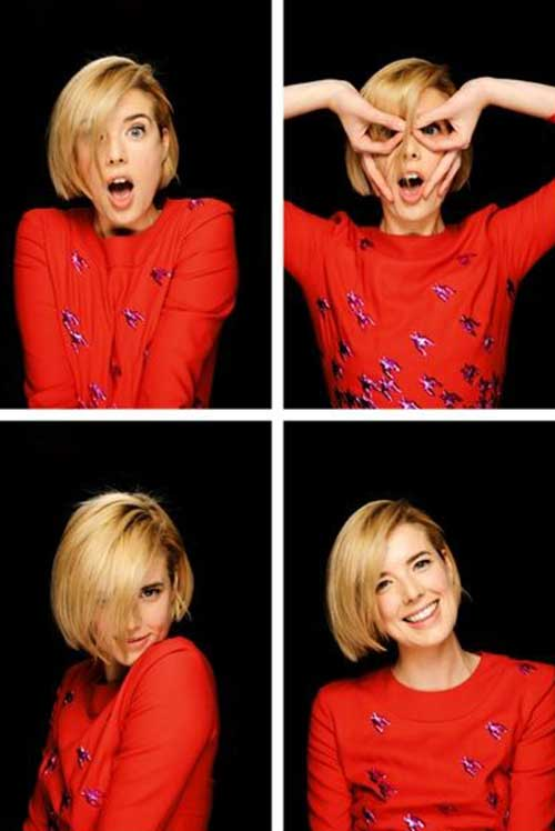 Blunt Short Blonde Hair Cuts