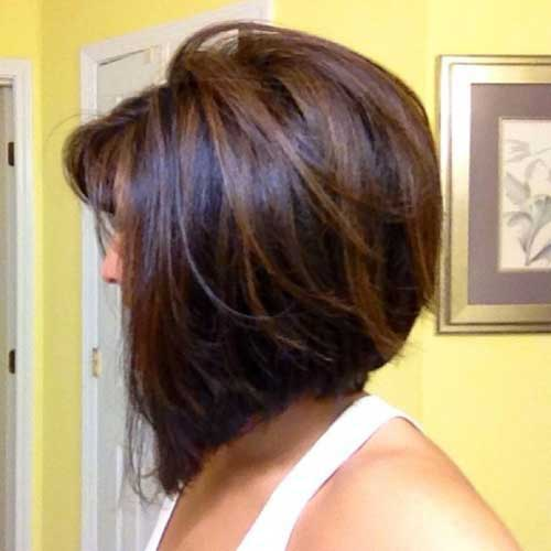 Brown Highlighted Dark Bob Hair Colors