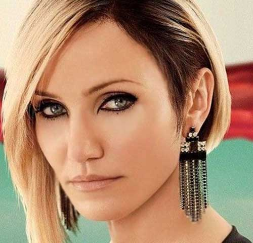 Cameron Diaz Blonde Bob Haircuts