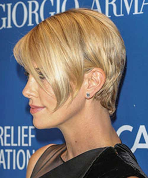 Charlize Theron Long Pixie Hairstyles