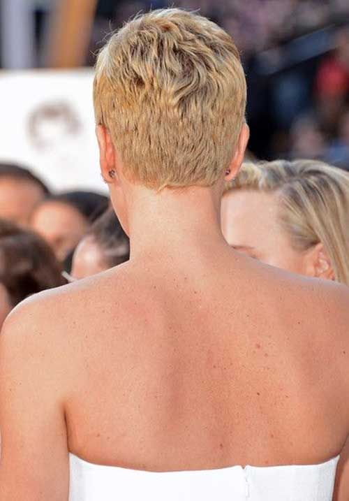 Charlize Theron Pixie Cuts Back View