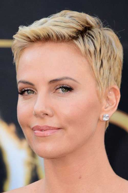 Charlize Theron Cute Pixie Hairstyles