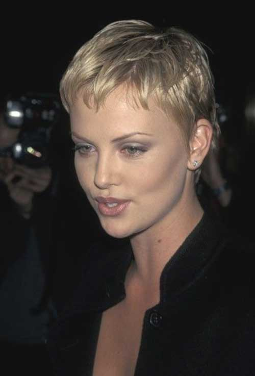 Charlize Theron Short Pixie Hairstyles