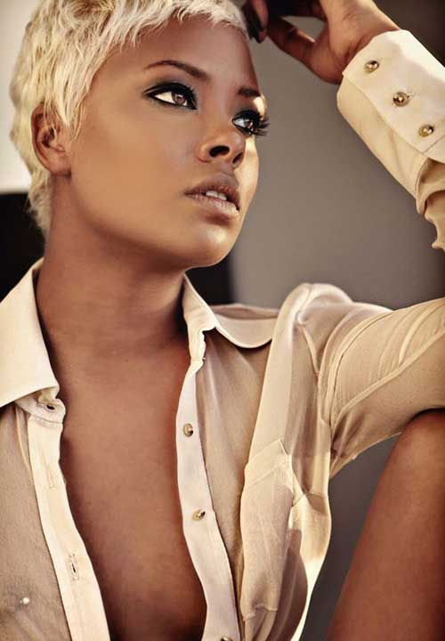 Cool Short Blonde Hairstyles for Black Women