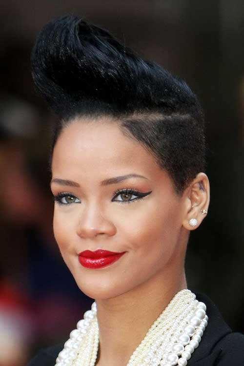 Cool Short Mohawk Black Straight Hairstyles
