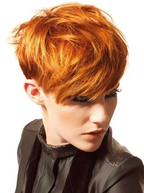 Copper Pixie Haircuts for Thick Hair