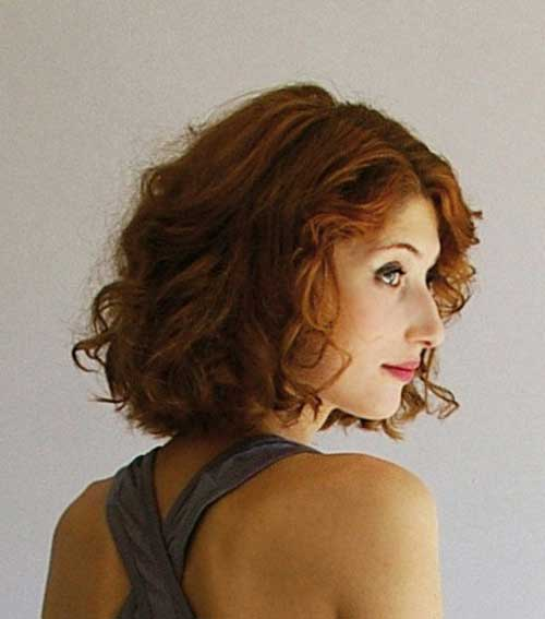 Copper Thick Curly Haircuts Short Cut