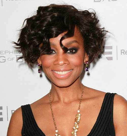 Curly Layered Bob Hairstyles for Black Women