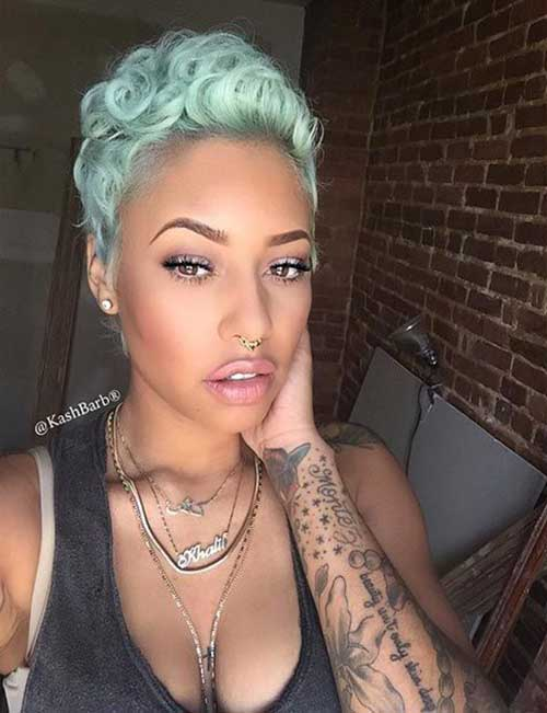 Cute Curly Blue Short Hairstyles
