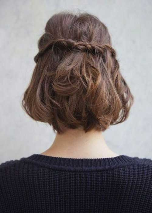 Cute Easy Braided Short Hairstyles