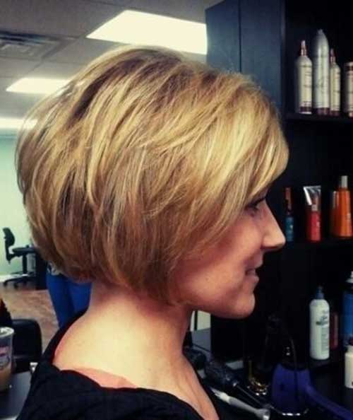 Cute Easy Stacked Bob Short Hairstyles