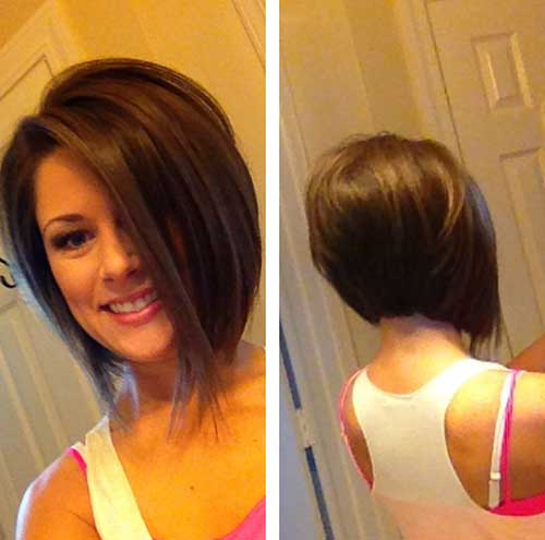 Cute Inverted Haircuts for Short Hair Type