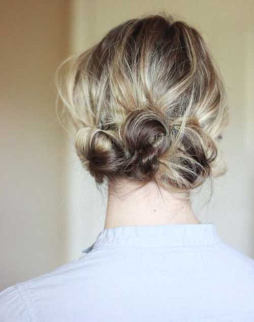 Cute Low Messy Buns For Short Hairstyles