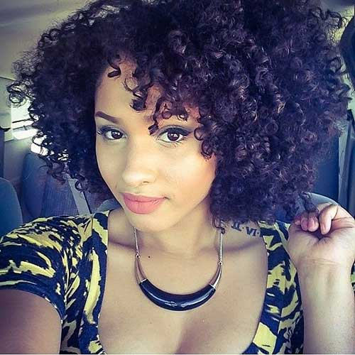 Cute Natural Curly Short Hairstyles