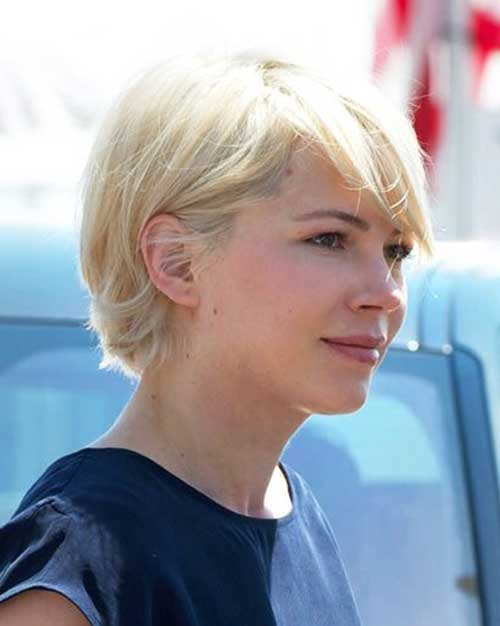 Cute Short Blonde Haircuts for Oval Faces