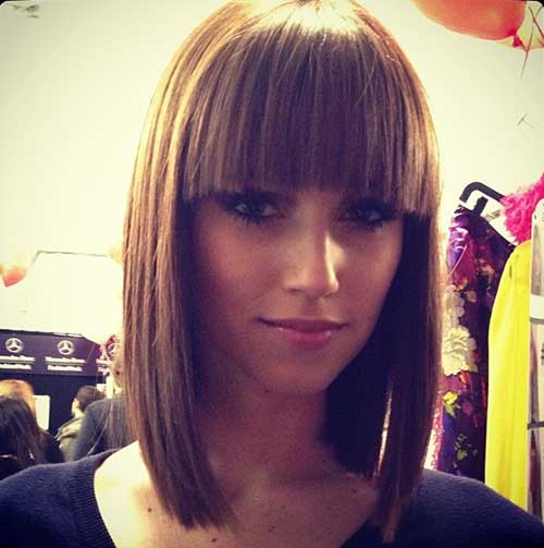 Cute Short Straight Hairstyles with Bangs