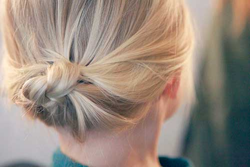 Cute Simple Buns For Short Hairstyles