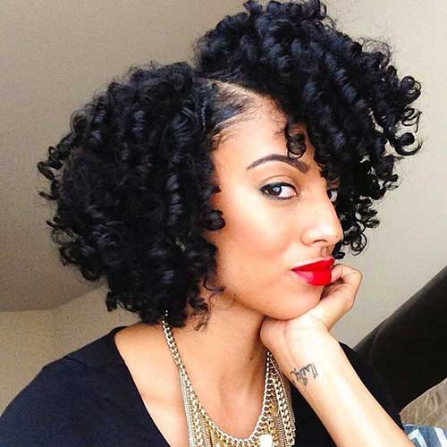 Best Cute Thick Curly Short Hairstyles