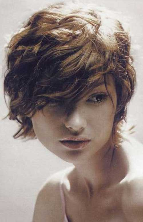 Cute Wavy Hair Long Pixie Cut