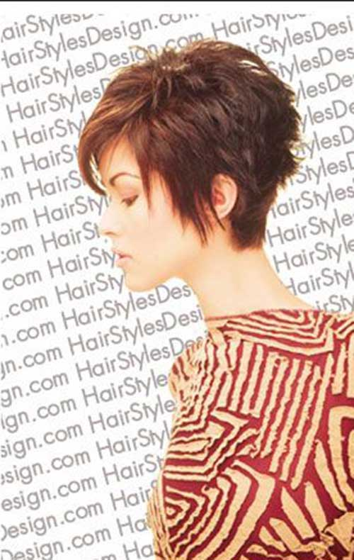 Dark Brown Short Spiky Hairstyles