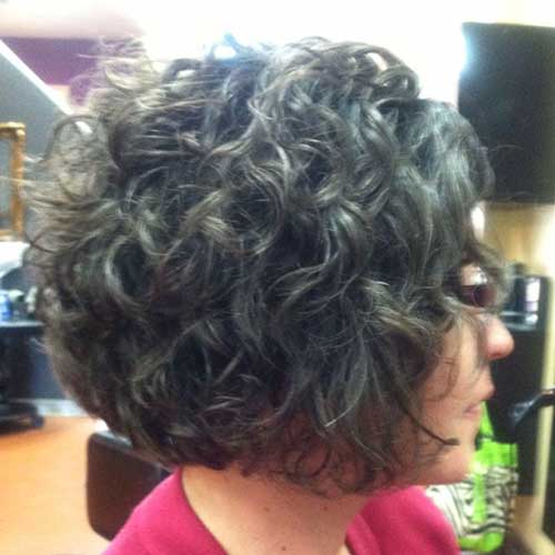 Dark Brown Short Thick Curly Hairstyles