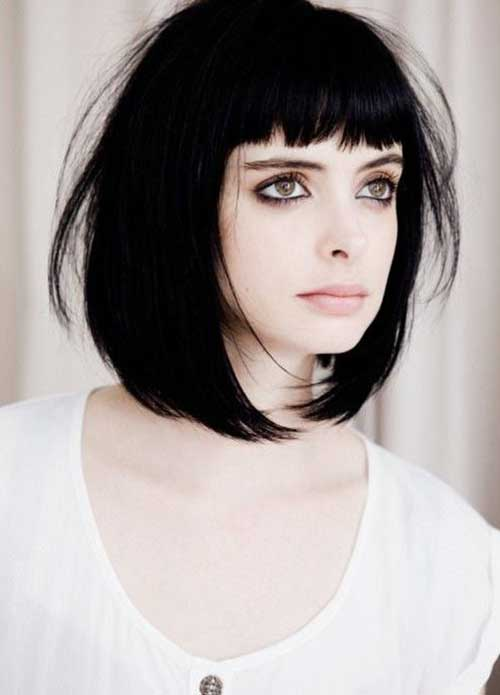 Dark Straight Bob Hairstyles